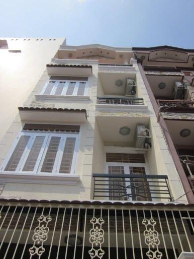 Bán nhà mới đẹp hẻm xe hơi đường Phan Đăng Lưu, P5, Phú Nhuận, Dt 4.2x13 nở hậu 4.3m đúc 1 trệt, 3 lầu